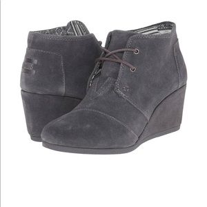 Toms Grey Suede Women's Kala Booties